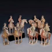 Tang Dynasty Musicians on Horsebacks