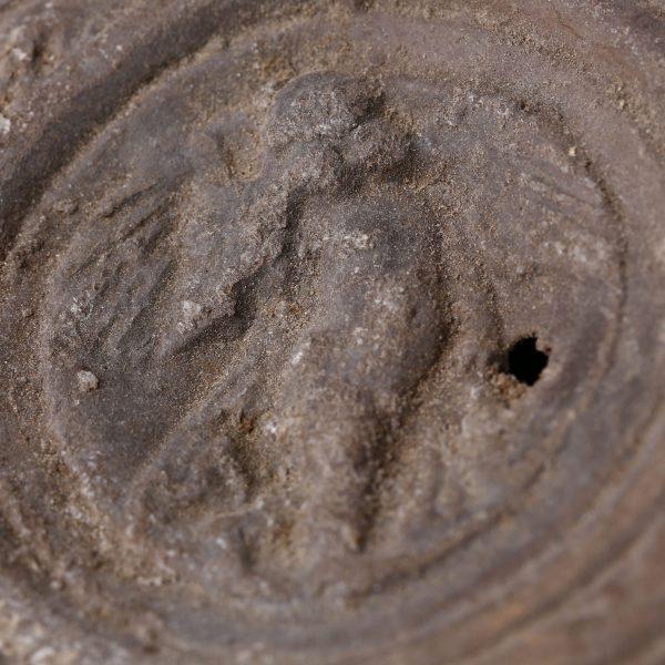 Roman Oil Lamp with Goddess Victoria