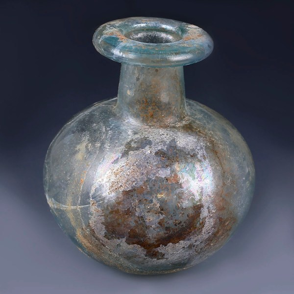 Roman Glass Pale Blue Aryballos