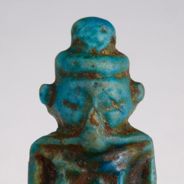 Egyptian Turquoise Faience Pataikos Amulet