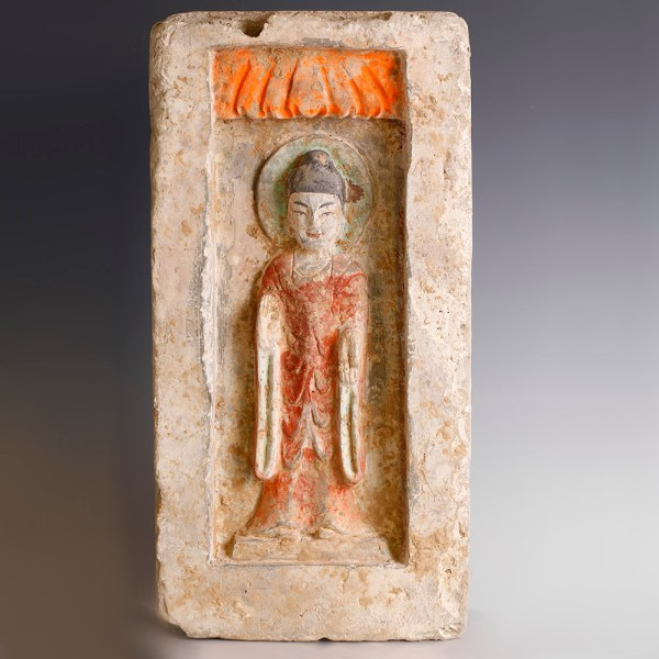 Chinese Northern Wei Brick with Guanyin