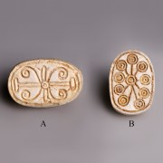 Selection of Egyptian Steatite Scarab with Geometric Patterns