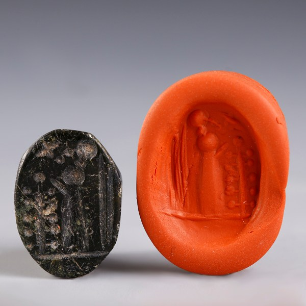 Neo-Babylonian Seal with Cultic Scene