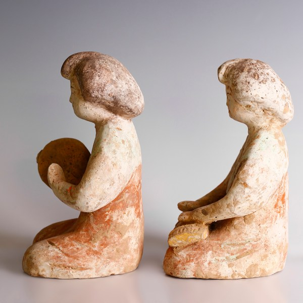 Tang Dynasty Pair of Female Musicians