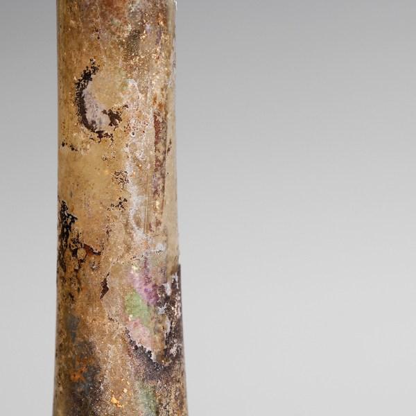 Ancient Roman Glass Candlestick Unguentarium