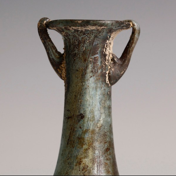 Ancient Roman Glass Cosmetic Container