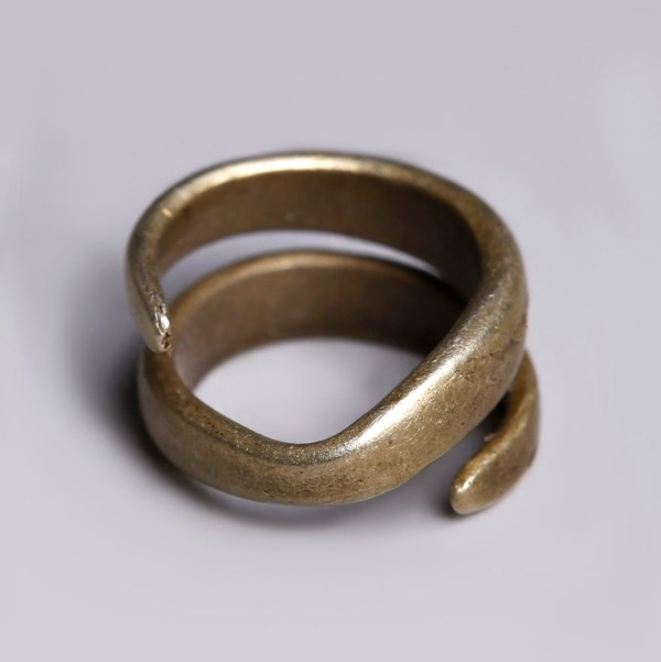 Bronze Age Gold Coiled Hair Ring
