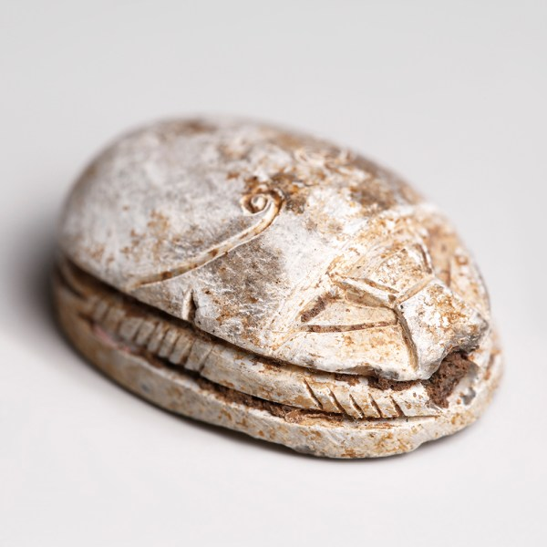 Egyptian Steatite Scarab with Sema-Tawy