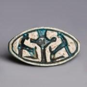 Egyptian Scaraboid Amulet to Bastet and Hathor