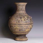 Han Terracotta Polychrome Painted Hu