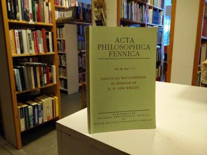 Essays on Wittgenstein in honour of G. H. von Wright (edit. Jaakko Hintikka)