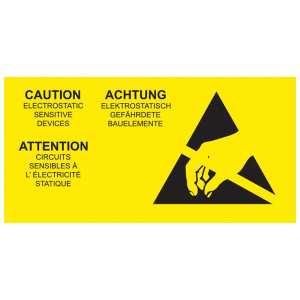 ESD Caution Label - Multi Language