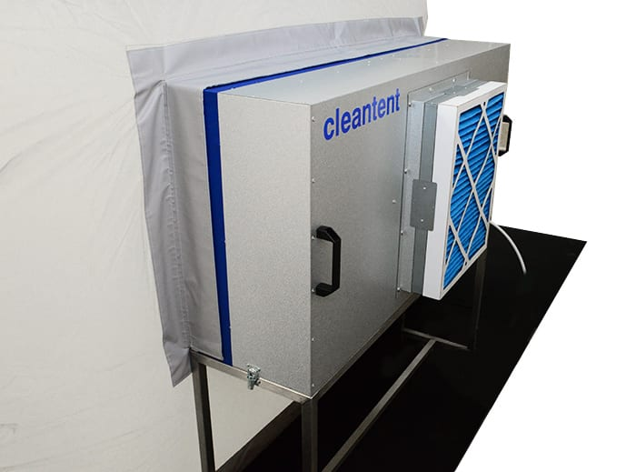 Cleanroom tent control unit