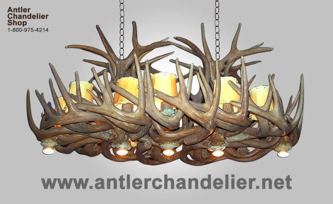 Reproduction Whitetail Chandelier With Optional Downlights Crl 28
