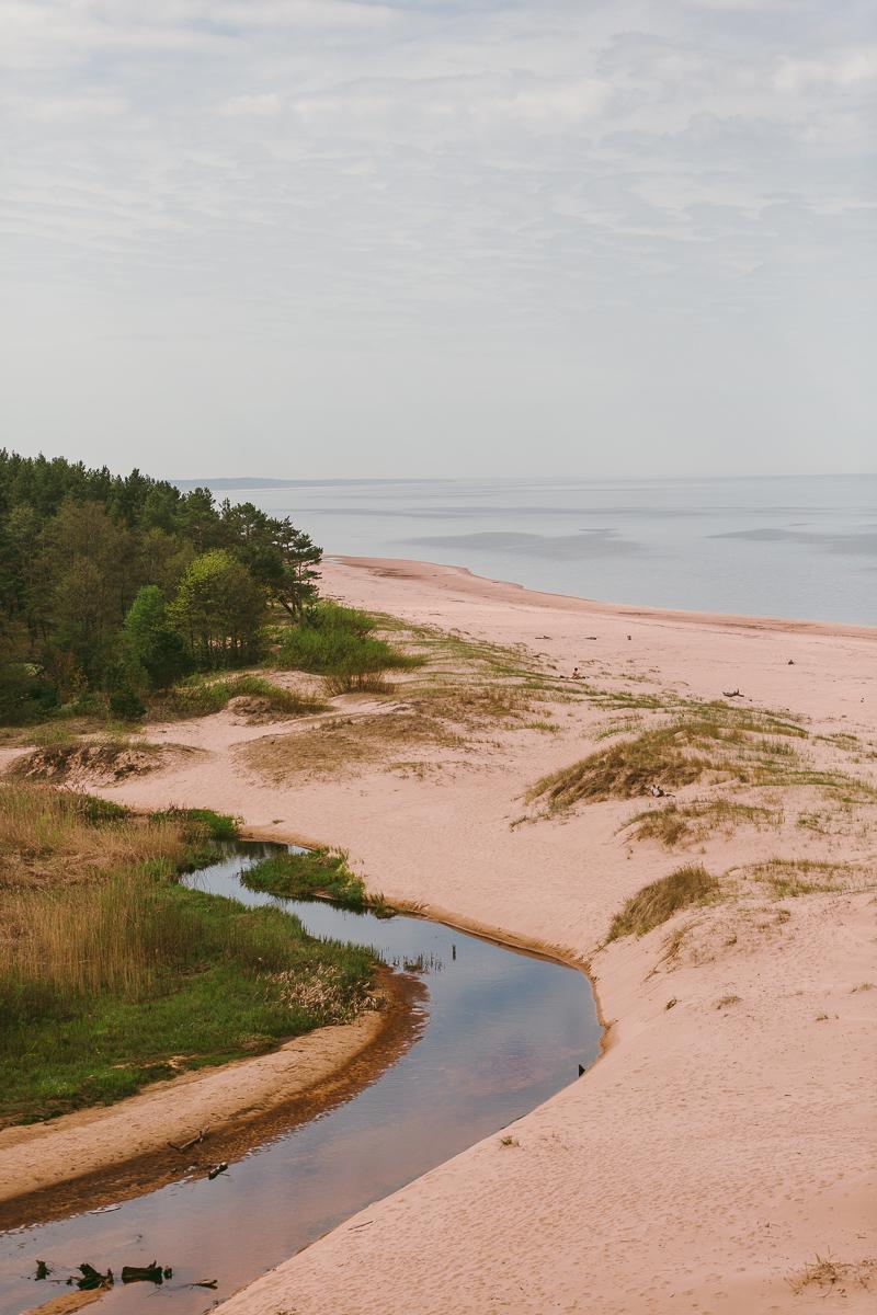 Stränder i Lettland saulkrasti