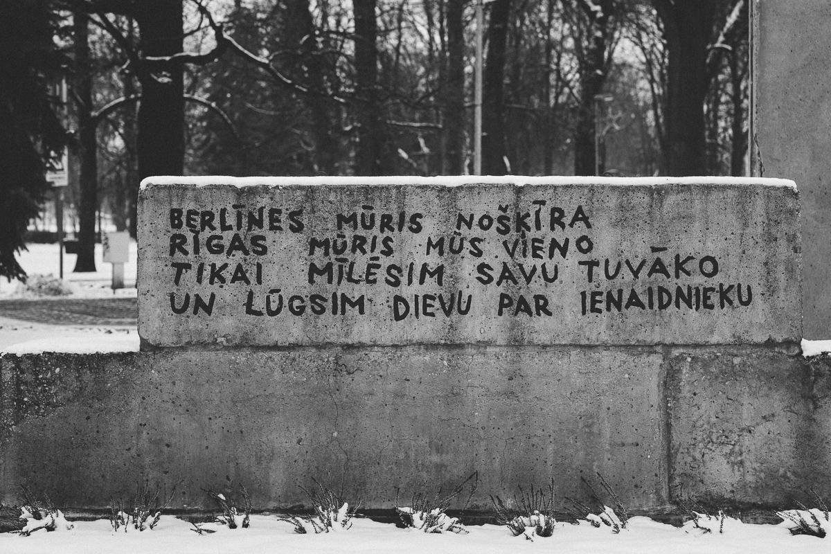 berlinmuren att göra i riga