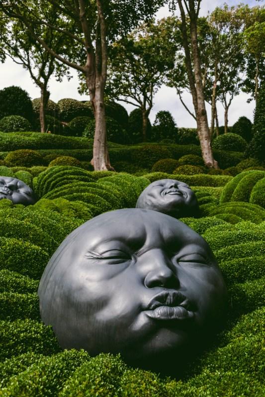 Normandie Etretat trädgård