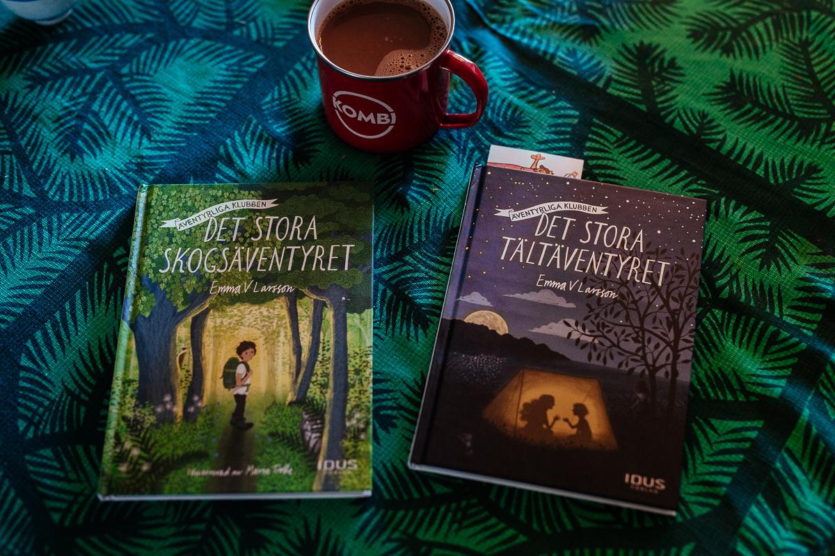 Det stora skogsäventyret och Det stor tältäventyret Äventyrliga klubben Emma V Larsson