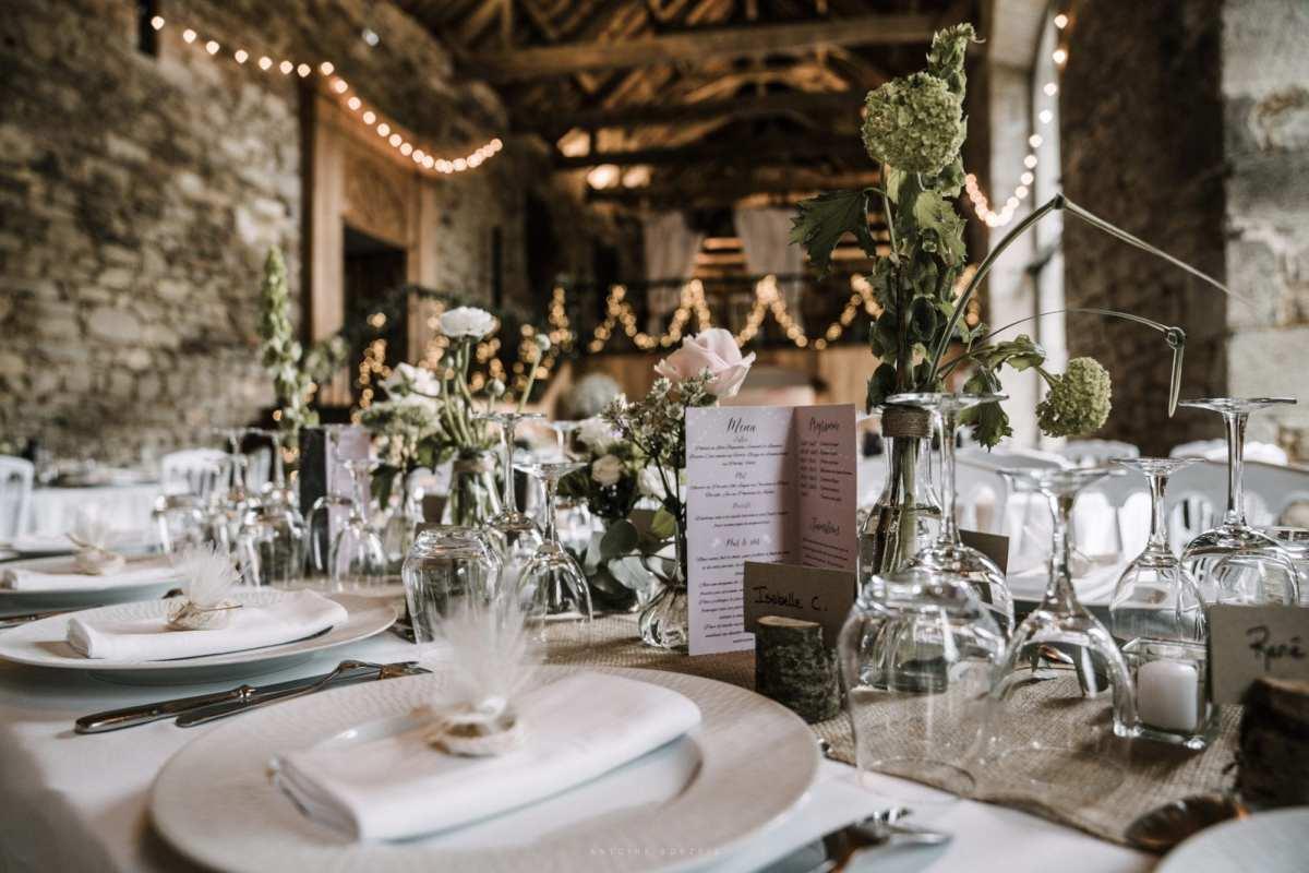 photo de table mariage
