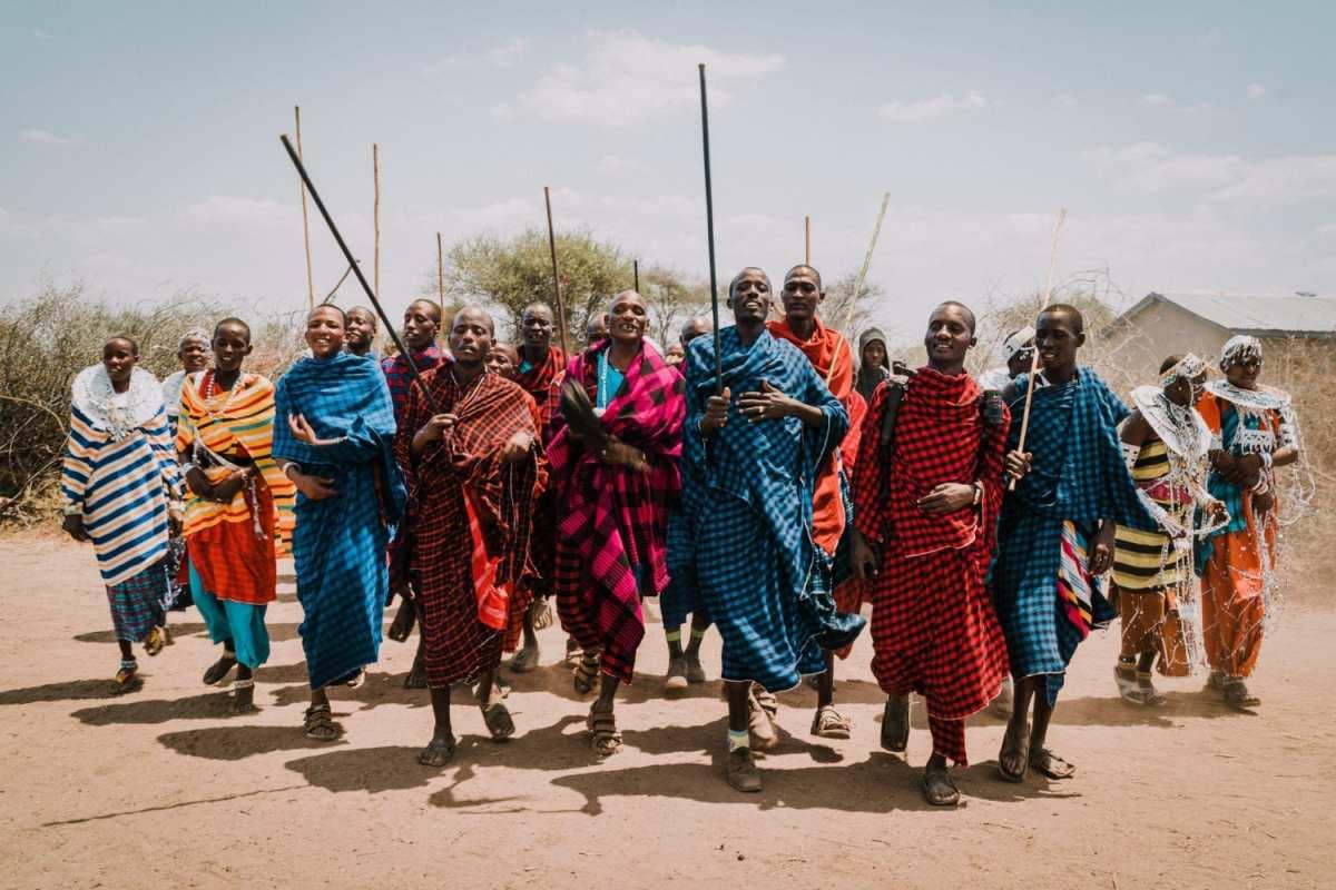 Tribue massaI en Tanzanie à Arusha