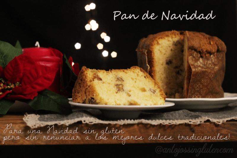 Pan de Navidad (Panettone) sin gluten