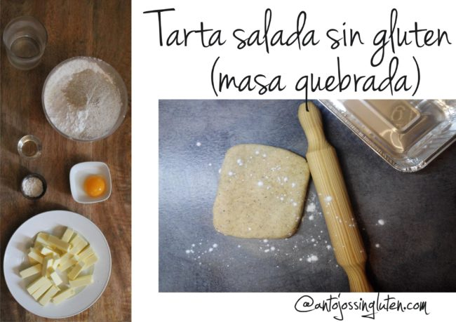 Masa para tarta salada (masa quebrada) sin gluten