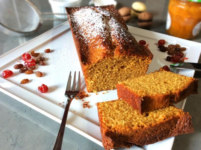 Plum cake con farina di mais