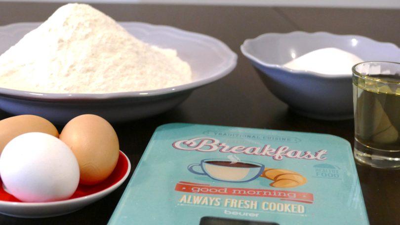 Ingredienti per biscotti secchi