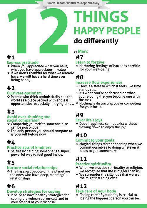12 cosas felicidad