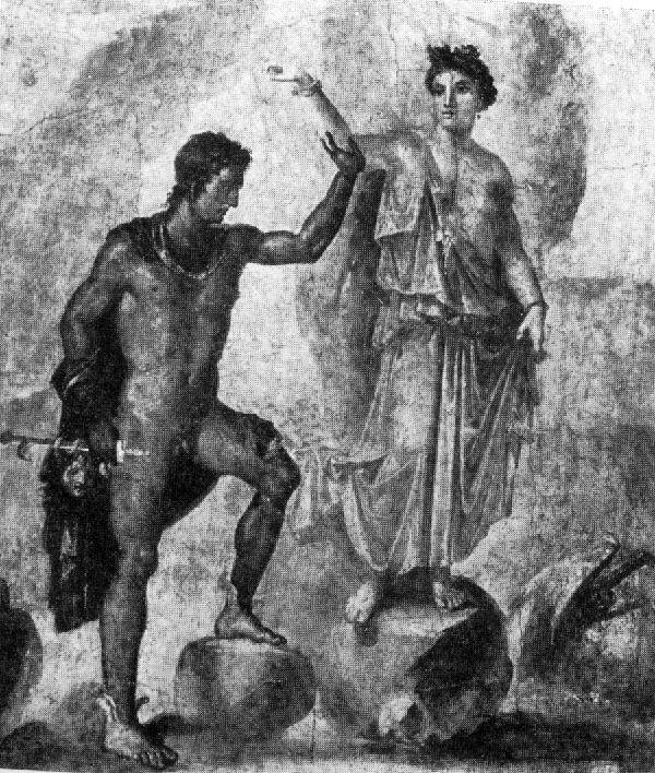 Affresco di Pompei: Perseo e Andromeda
