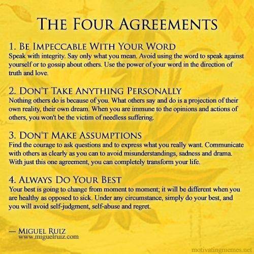 The 4 Agreements by Miguel Ruiz