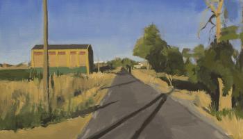 Camino al Pueblo Óleo sobre tabla 30x40 cms de Antonio Mateos Prieto