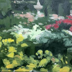 Jardín con flores