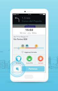 Waze Planned Drives ETA Panel on iOS