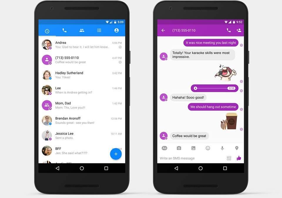 FACEBOOK – Arrivano gli SMS su Messenger