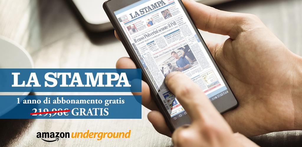 Amazon Underground si arricchisce dell'abbonamento gratuito a La Stampa