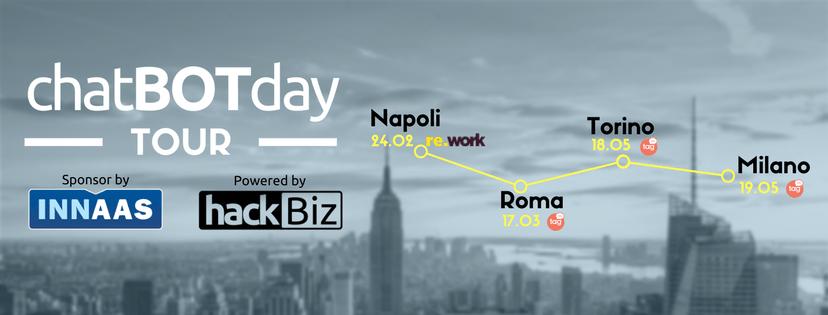Gran finale del chatBOTday Tour, a maggio le tappe di Torino e Milano