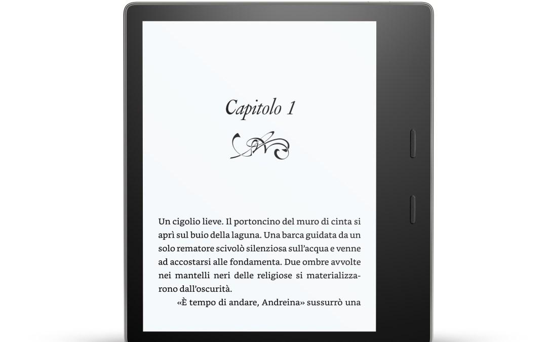 Amazon lancia il nuovo Kindle Oasis: waterproof, schermo da 7 pollici e 300 ppi