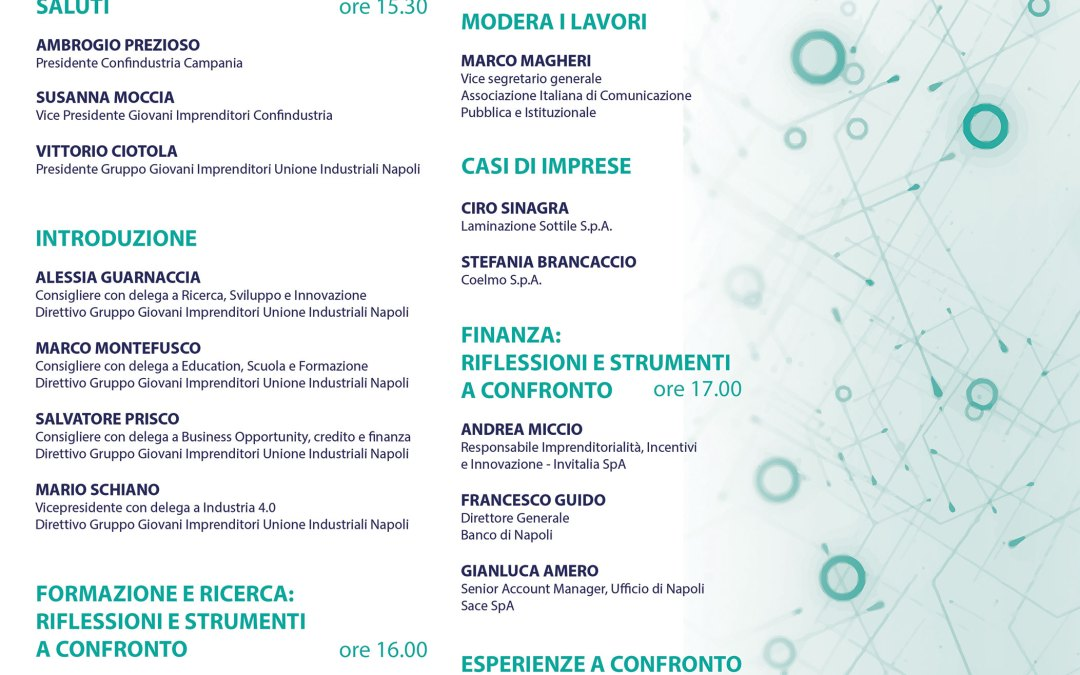 Lunedì 6 Novembre a Napoli ITT – INNOVATION TECHNOLOGY TRANSFER