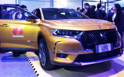 La DS 7 è la prima automobile con tecnologia Huawei Connected Car