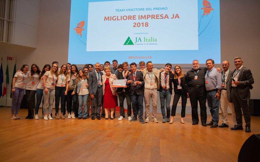 Il Premio Migliore Impresa JA 2018 va al progetto OKelvin JA dell'ISIS Malignani di Udine