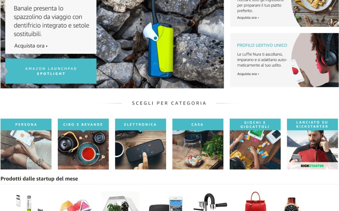 Amazon Launchpad: le startup italiane possono portareprodotti innovativi ai clienti Amazon