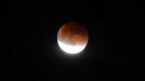 luna piena e l'eclissi