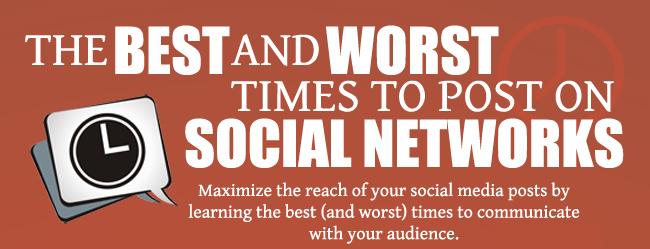 Cuándo publicar en Facebook, Twitter, Linkedin, Google+ y Pinterest [Infografía por @LoriRTaylor]