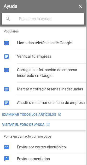 ayuda para empresas dadas de alta en google my business