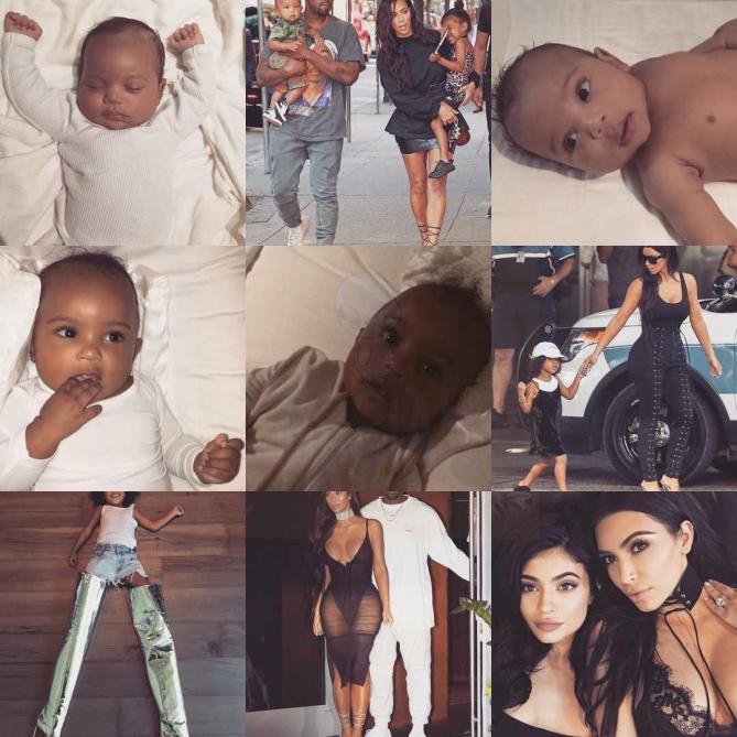 Kim Kardashian. Estas son sus #2016BestNine del 2016. Con 388.104.078 likes en 410 publicaciones en 2016.