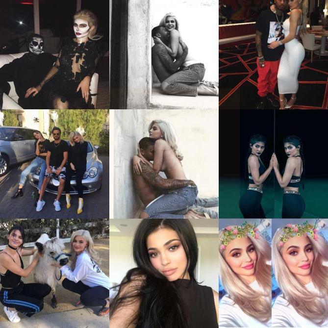 Kylie Jenner. Estas son sus #2016BestNine del 2016. Con 1.464.381.508 likes en 1.139 publicaciones en 2016.