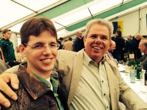 Präsident Rudi mit Sohn Michael, der auch Adjutant unseres Königs Nils ist: