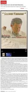 Anton Roman sur la voix de Balavoine Républicain Lorrain