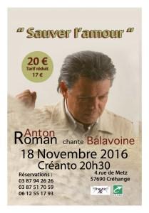 Concert Hommage Balavoine Sauver l'amour Créhange